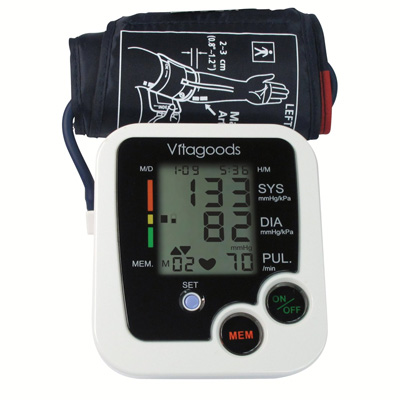 3. Vitagoods Blood Pressure Monitor White, Black