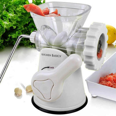 5. Kitchen Basics 3-In-1 Meat Grinder and Vegetable Grinder/Mincer