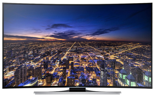 5. Samsung UN55HU8700 Curved 55-Inch 4K Ultra HD 120Hz 3D Smart LED TV