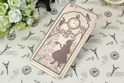 3. MM. Newest Fashional Cute Romantic Fairy Tale Rabbit Alice in Wonderland Pattern TPU Soft Case Cover for IPhone 6 4.7