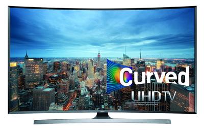 9. Samsung UN48JU7500 Curved 48-Inch 4K Ultra HD 3D Smart LED TV