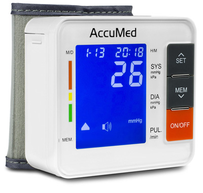 6. AccuMed ABP801 Portable Wrist Blood Pressure Monitor