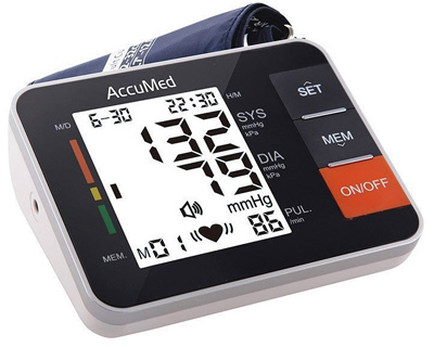 9. AccuMed ABP802 Portable Upper Arm Blood Pressure Monitor