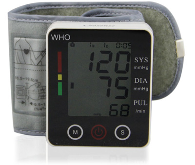 5. LEOSENSE Automatic Wrist Digital Blood Pressure Monitor With Touch Screen Buttons,Heart Rate Meter,Perfect for Home Use