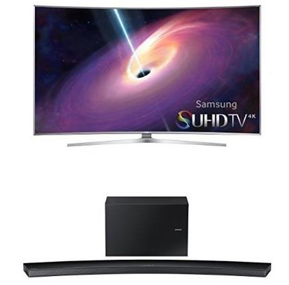 3. Samsung UN55JS9000 Curved 55-Inch TV with HW-J8500 Curved Soundbar