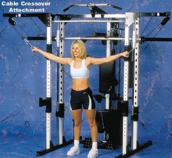 9. Caribou III Home Gym & Smith Machine - Dip, Preacher Curl, Pec Deck and Cable Crossover