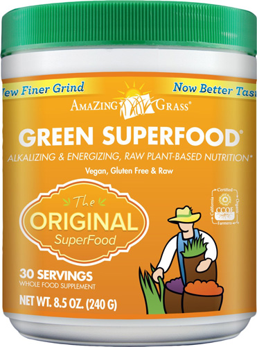 1. Amazing Grass Green SuperFood Original, 30 Servings, 8.5 Ounces