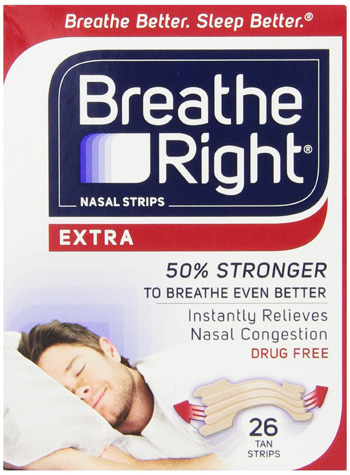 1. Nasal Strips from Breathe Right