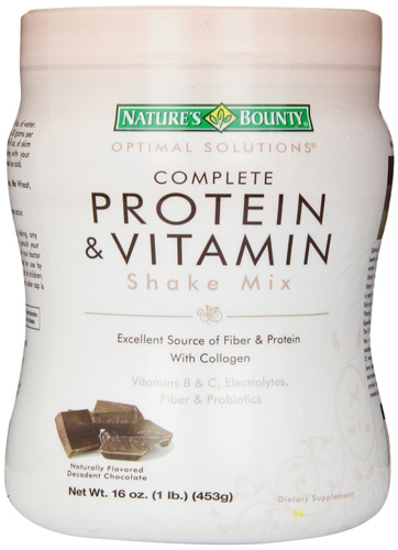 2. Nature's Bounty Protein Shake Mix, Decadent Chocolate, 16 Ounce