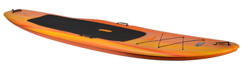 9. Pelican Flow 106 Stand-Up Paddleboard, Fade Red/Yellow