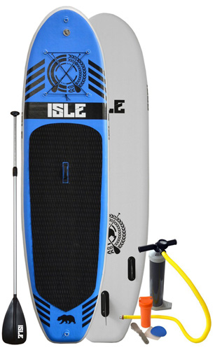 4. Isle 10ft Inflatable Stand Up Paddle Board with Pump and 3 Piece Adjustable Travel Paddle