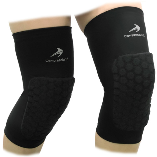 6a44eb4991deb9 Padded Knee Sleeves (1 Pair) Protective Compression Wear - Men & Women