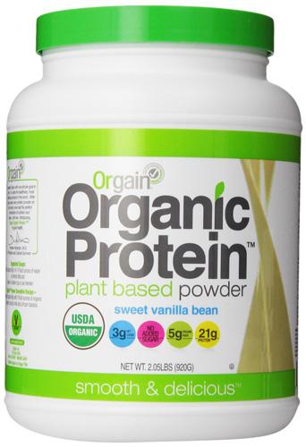 5. Orgain Organic Protein Plant-Based Powder, Vanilla Bean, 2.03 Pound