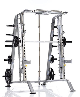 10. Tuff Stuff Fitness Evolution Smith Machine and Half Cage Combo Strength Training Rack