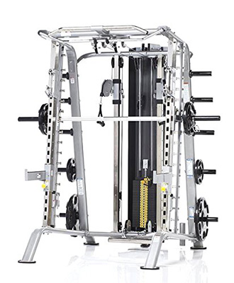 8. Tuff Stuff Fitness Evolution Smith Machine / Half Rack Package with Utility Workout Bench