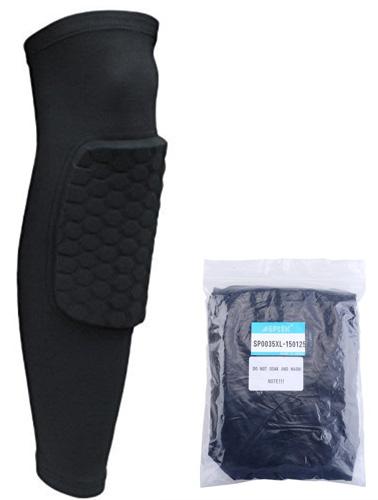 8. AGPtEK® Strengthen Kneepad Honeycomb Pad Crashproof Antislip Basketball Leg Knee Long Sleeve Protective Pad
