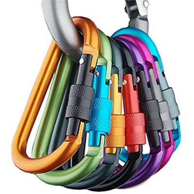 3. Banner Bonnie 6pcs Aluminum Carabiner D-ring Key Chain Clip Hook-