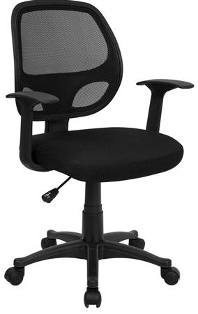 7. Flash Furniture Mid-Black Black Mesh Computer Chair