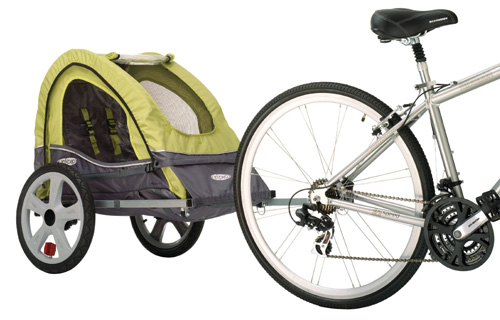 8. InStep Sync Single Bicycle Trailer, Green/Gray