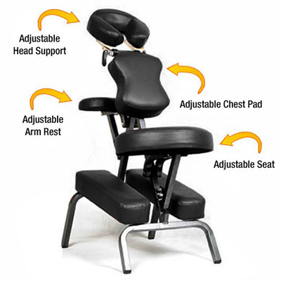 6. Ataraxia Deluxe Portable Folding Massage Chair