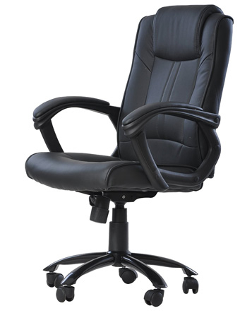 6. Ergonomic Leather Office Executive Chair Computer Hydraulic O4