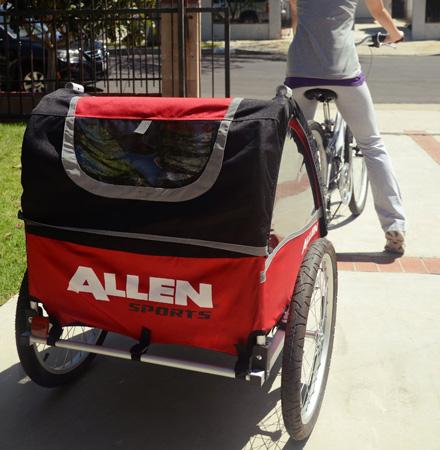 6. Allen Sports Premium Aluminum 2 Child Bicycle Trailer and Stroller