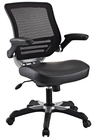 4. LexMod Edge Office Chair with Mesh Back and Black Leatherette Seat