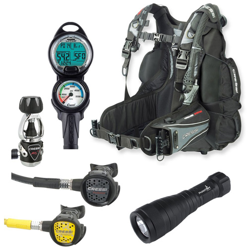 7. Cressi Air Travel BC Scuba Gear Dive Package Diving Equipment