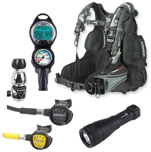 7. Cressi Air Travel BC Scuba Gear Dive Package Diving Equipment