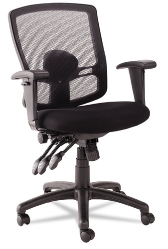 10. Alera Etros Series Petite Mid-Black Multifunction Mesh Chair, Black