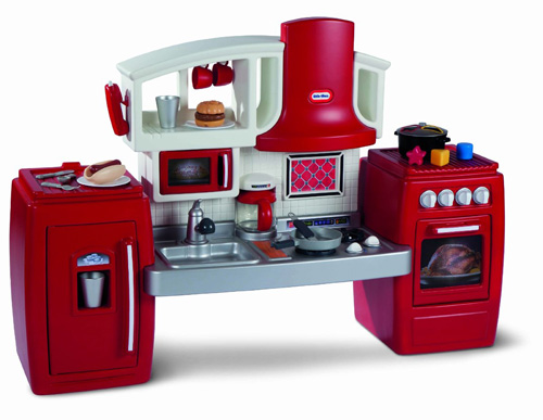 4. Little Tikes Cook N Grow Kitchen28.25 inches W x 20.75 inches D x 23.50 inches H26 accessory pieces (Made in USA)