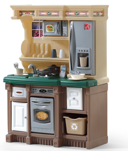 3. Step2 LifeStyle Custom Kitchen II, Available in a combination of Brown/Tan/Green Only20 accessory pieces (Made in USA)