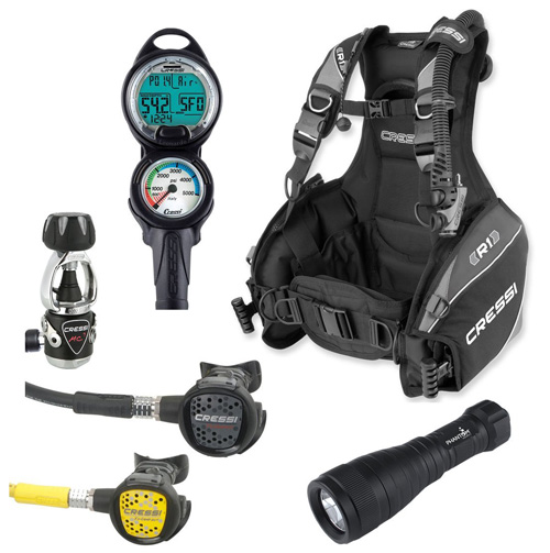 5. Cressi R1 BCD Scuba Gear Package