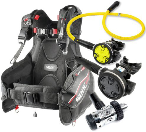 8. Seac Ego BCD Scuba Gear BC Regulator Package