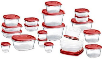 1. Rubbermaid Plastic Easy Find Lid Food Storage Set, 42-Piece, Best Storage Containers for Sale