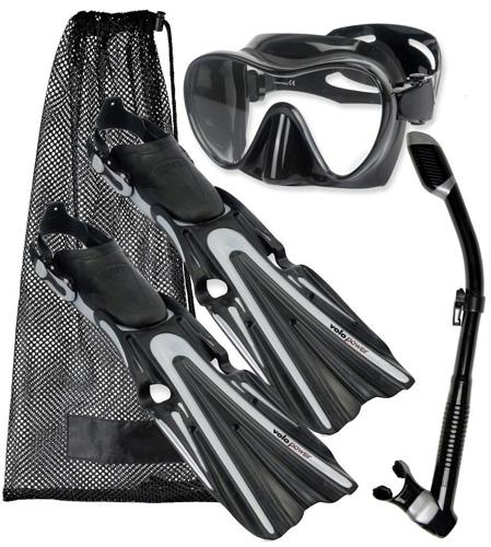 3. Mares Volo Power Fin Mask Snorkel Scuba Diving Gear Set