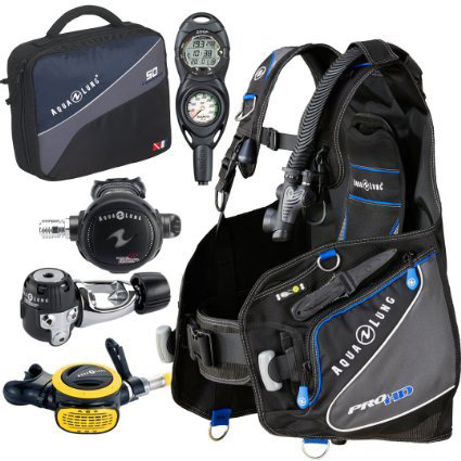 10. Aqua Lung Pro HD BCD Suunto Zoop Dive Computer Titan/ABS Regulator Set Reg Bag Scuba Diving Gear Package
