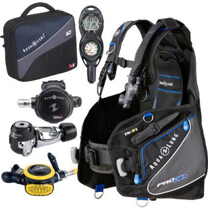 10. Aqua Lung Pro HD BCD Suunto Zoop Dive Computer Titan/ABS Regulator Set Reg Bag Scuba Diving Gear Package