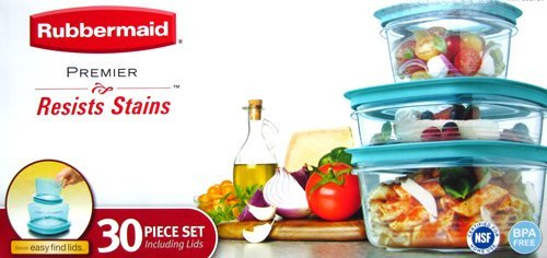 Rubbermaid Premier 30-Piece Plastic Food Storage Container Set TEAL  sc 1 st  TheCorner & The Best Storage Containers