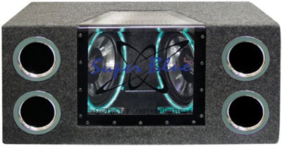 10. Pyramid BNPS102 10-Inch 1,000-Watt Dual-Bandpass System with Neon Accent Lighting