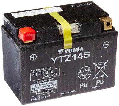 3. Yuasa YUAM72Z14 YTZ14S Battery