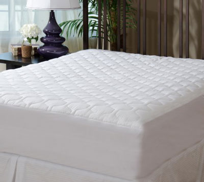 3. Fitted and Quilted Full Size Mattress Pad Cover by The Grand