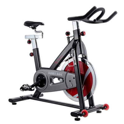 8. Sunny Health & Fitness Belt Drive Indoor Cycling Bike, Grey