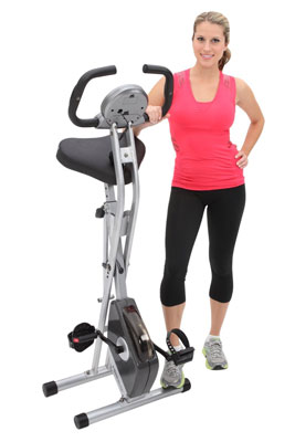 1. Exerpeutic Folding Magnetic Upright Bike with Pulse, Top Rated Stationary Bikes Reviews