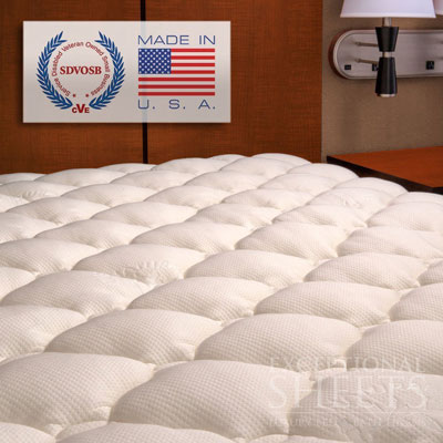 9. Bamboo Rayon Fabric Fitted Queen Sized Mattress Pad