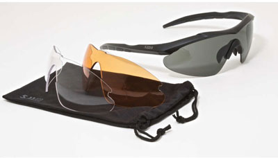 2. 5.11 Tactical Aileron Shield Sunglass Kit, Best Prescription Safety Glasses Reviews