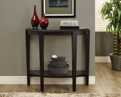 7. Monarch Specialties Cappuccino Hall Console Accent Table, 36-Inch