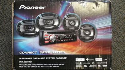 3. Pioneer Car Stereo Audio Combo Pack 4 Speakers