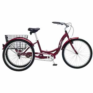 1. Schwinn Meridian Adult 26-Inch 3-Wheel Bike