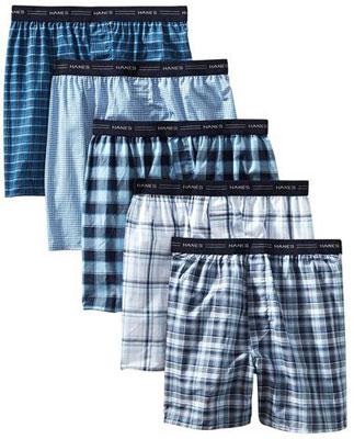 1. Hanes Men's 5-Pack Tagless Tartan Boxer, Best Mens Underwear Reviews